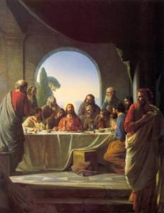 "Carl Bloch, ""The Last Supper,"" 1865-79."
