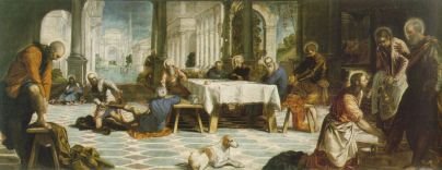 """Tintoretto, """"Christ Washing the Feet of His Disciples,"""" c. 1547-49"""