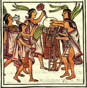 Aztec_drums,_Florentine_Codex.