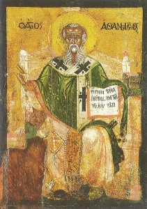 Athanasius. (Who probably didn't write the Athanasian Creed.)