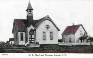 Methodist Episcopal Church and Parsonage, Iroquois, South Dakota 1900s 2.preview