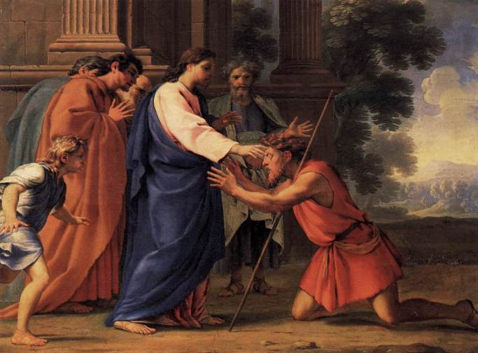 """""""Master, who did sin, this man, or his parents, that he was born blind?"""" """"Neither hath this man sinned, nor his parents"""" - John 9:2-3"""