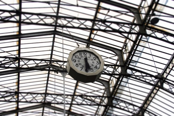 Parisian Train Station Clock