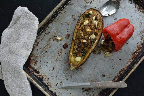 Eggplant Stuffed with Quinoa and Goat Cheese 6