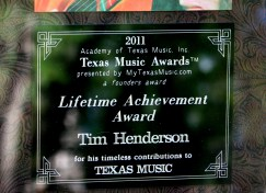 Tim Henderson Lifetime Achievement Award