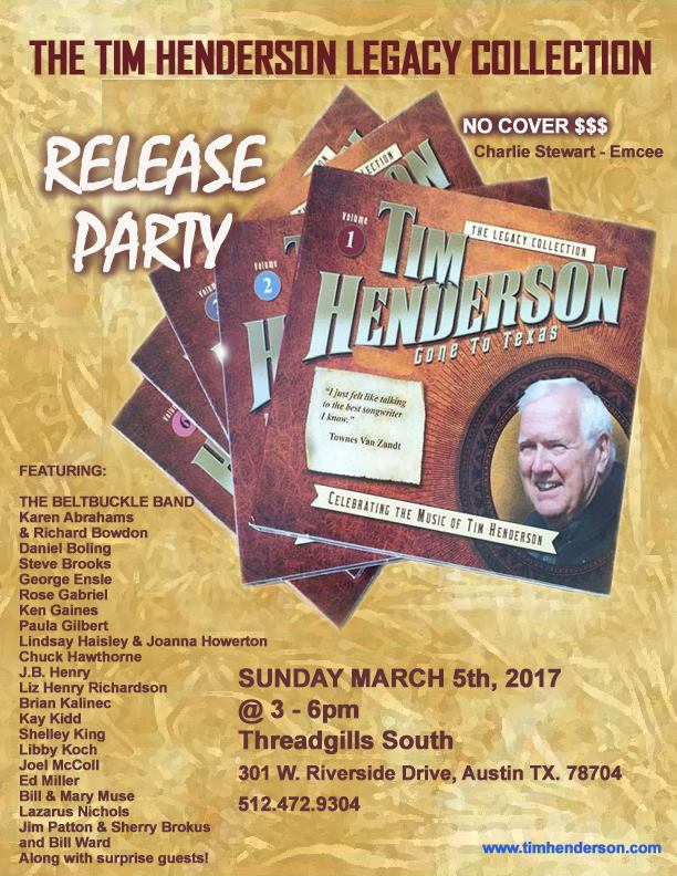 tim henderson cd release party