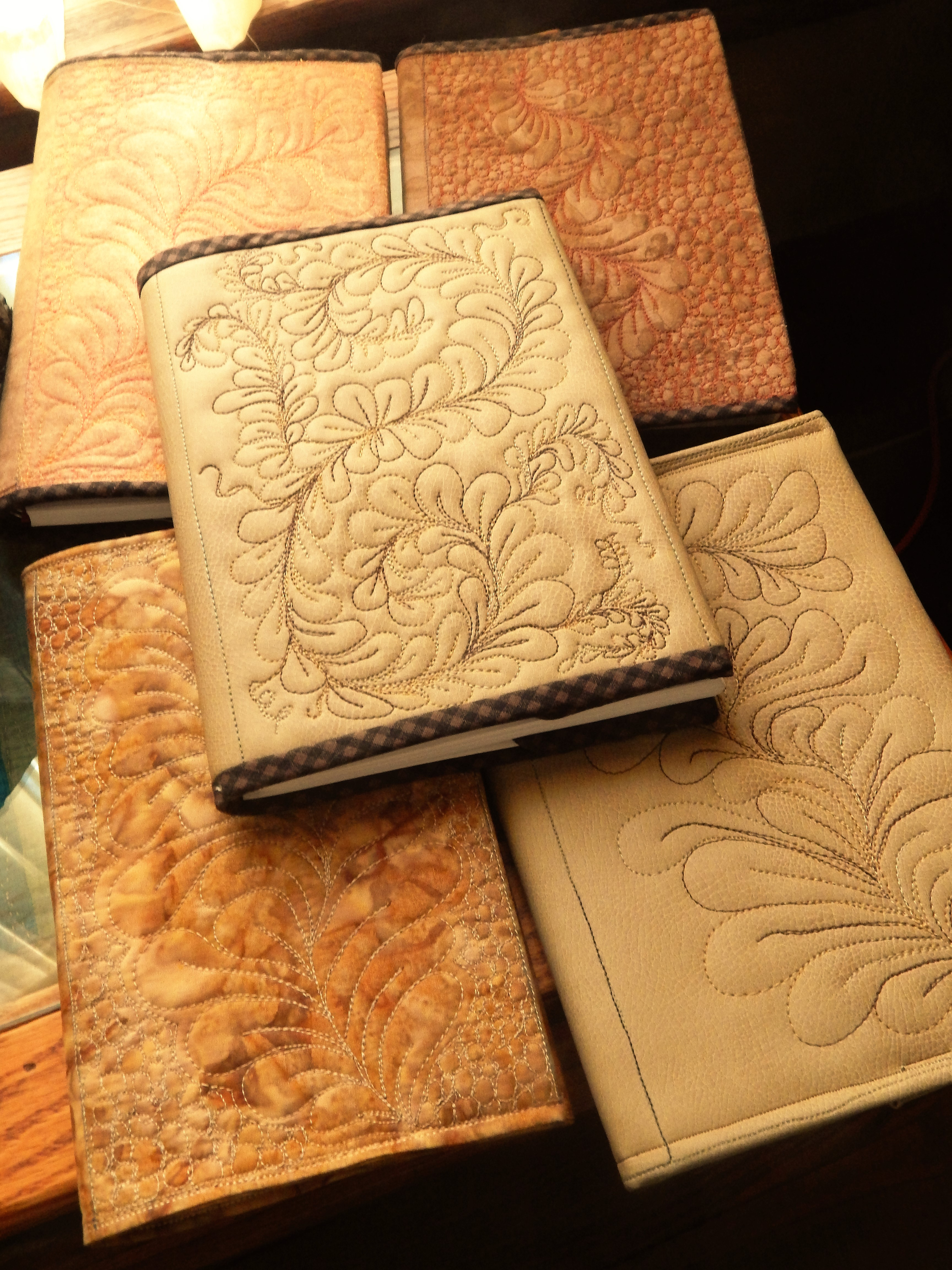Charm It Worked I Think A Few A Video Real Lear At Some More Hand Quilting I Used Some Faux Lear On A Few More Book Covers Tim Latimer photos Leather Book Covers