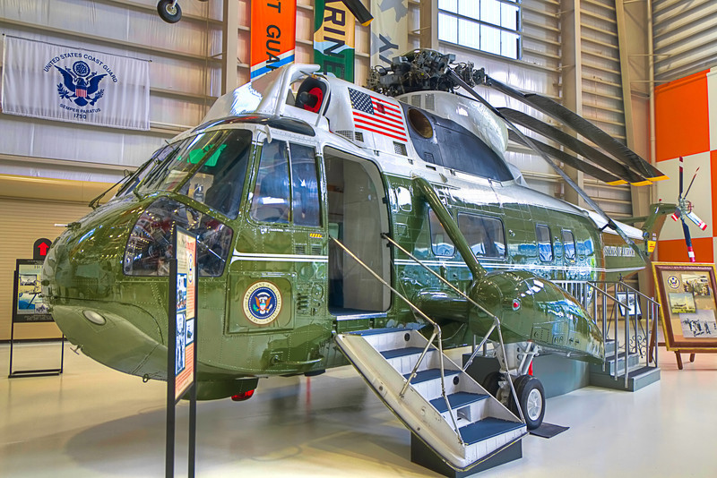 This VH-3A Sea King served in the Executive Flight Detachment of HMX-1 for Presidents Richard Nixon and Gerald Ford before it was retired. Photo by Tim Stanley Photography.