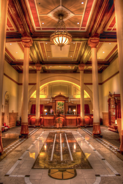 Check-in desk of the Driskill Hotel in Austin, TX. Photo by Tim Stanley Photography.