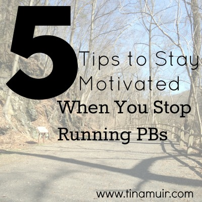 Elite runner Tina Muir shares her 5 best tips to stay motivated when you stop running PBs/PRs at every race. It can be so frustrating, but these tips really help!