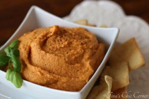 04Roasted Red Pepper Hummus