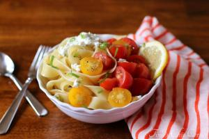 04Pappardelle With Tomatoes and Herbed Goat Cheese