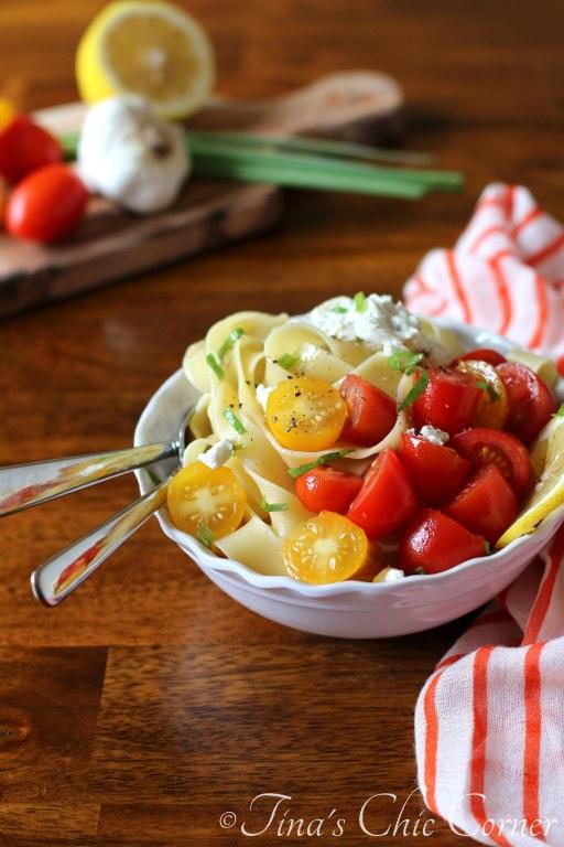 06Pappardelle With Tomatoes and Herbed Goat Cheese