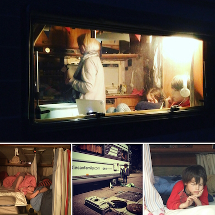 images of life in the van