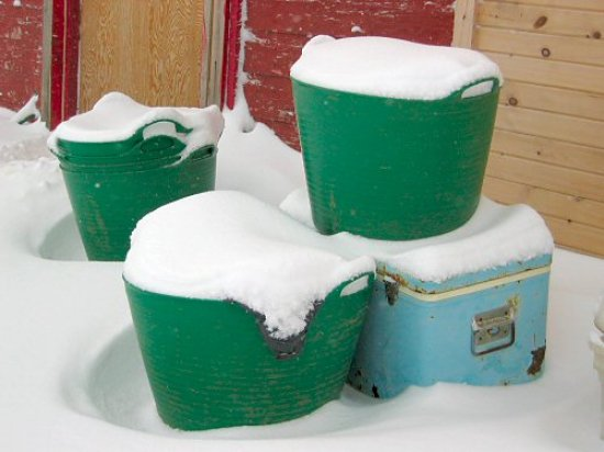 Buckets of snow came down overnight
