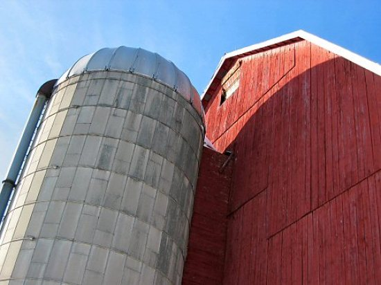 The silage silo