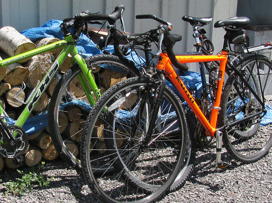 Bicycles for the farm commute