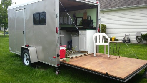 Medium Of Cargo Trailer Camper
