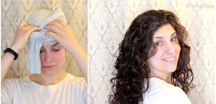 How To Plop Your Curls To Perfection Overnight