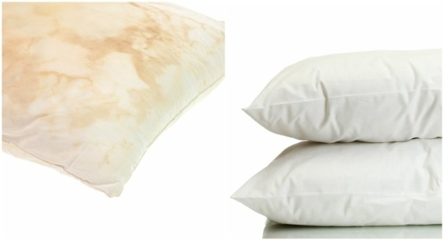 how to clean used pillows