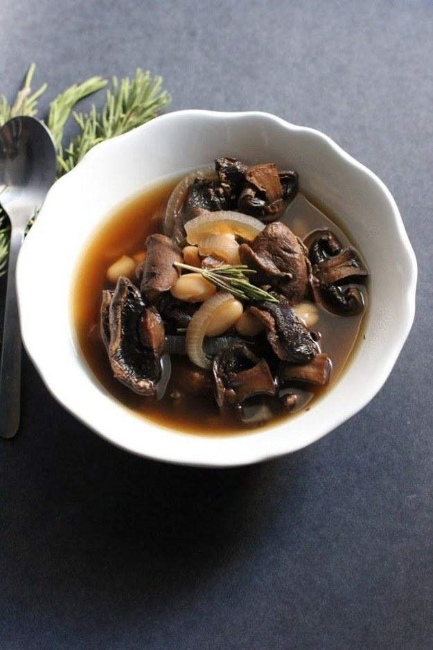 Mushroom White Bean Soup
