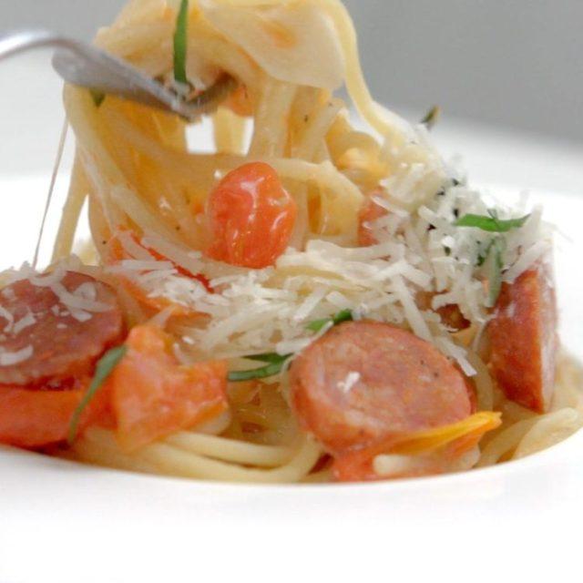 one pan sausage and pasta