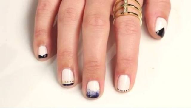 Five versions of an updated French manicure