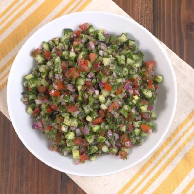 Mediterranean Cucumber Salad 2