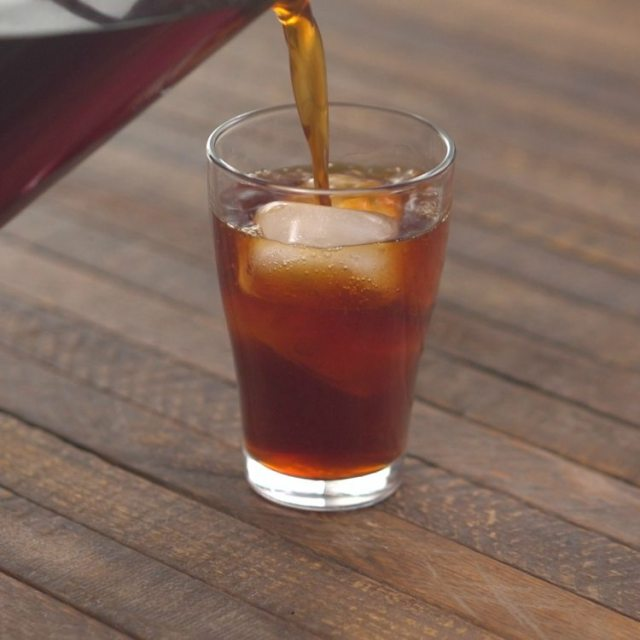 Pouring Cold-Brewed Coffee