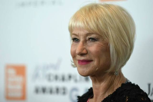Actress Dame Helen Mirren today