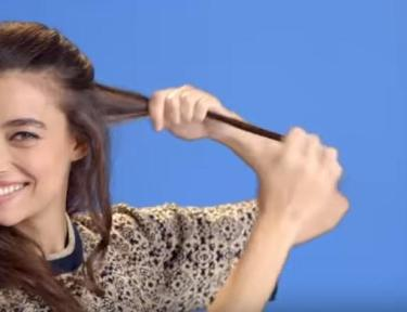 Get waves in your hair by using a flat iron