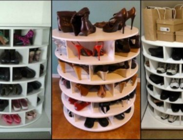 DIY shoe storage ideas.