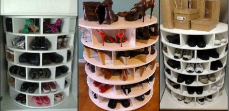 DIY shoe storage ideas.