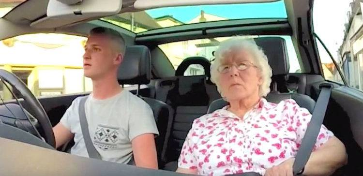 Grandson gives his grandma a radio surprise for her birthday.