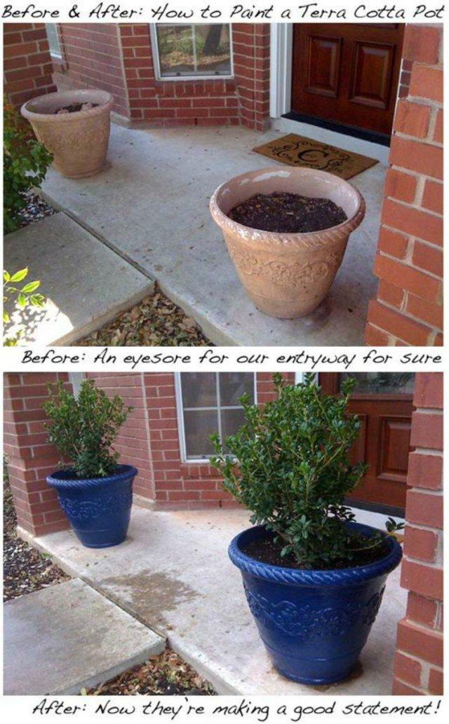 Spray Paint Pots