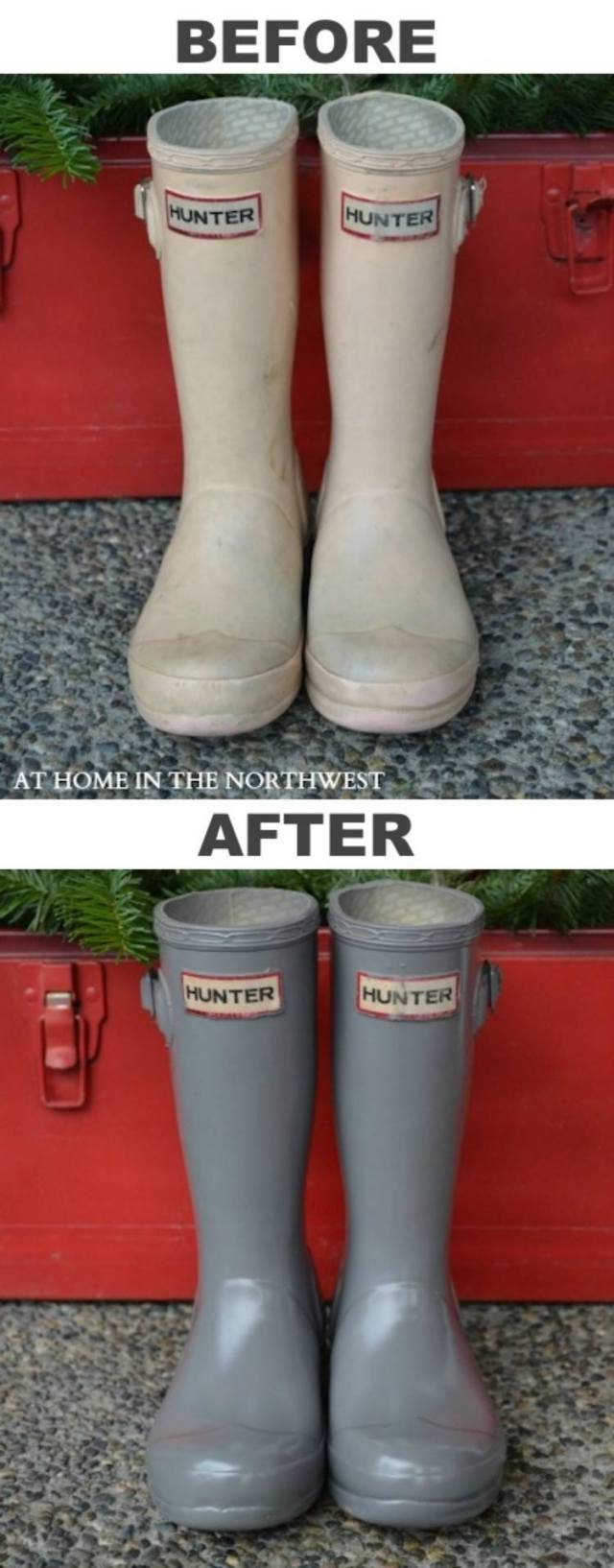 Spray Paint Rubber Boots