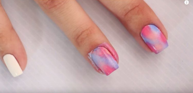 messy tie dye nails