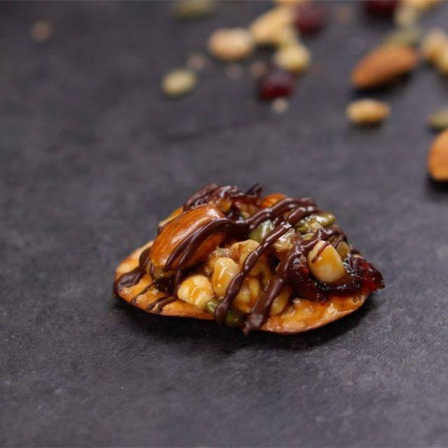 Chocolate Drizzled Nut Clusters