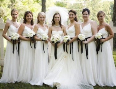 Why bridesmaids wear the same dress.