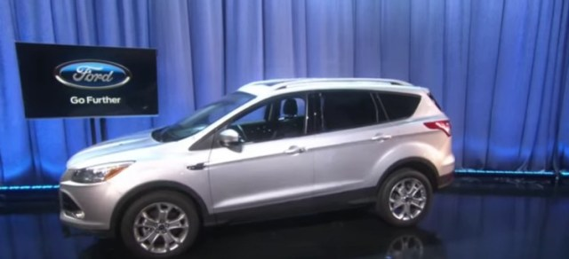 2015 Silver Ford Escape on stage