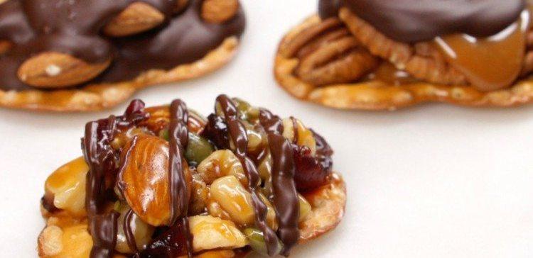 Pretzel Nut Clusters Three Ways