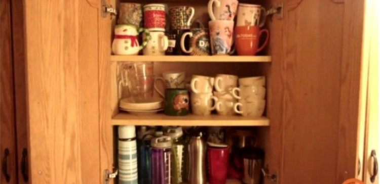 cups and mugs in a pantry