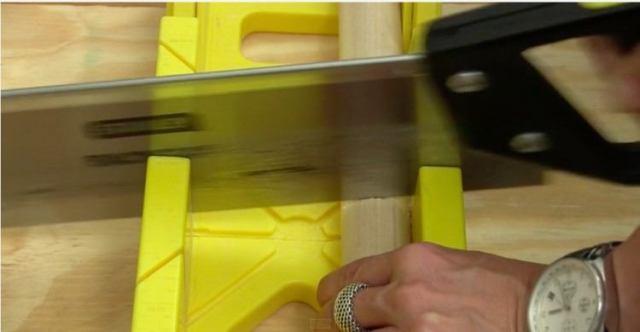 sawing dowel