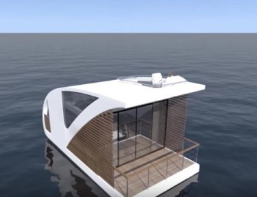 New floating hotel room in San Francisco bay.