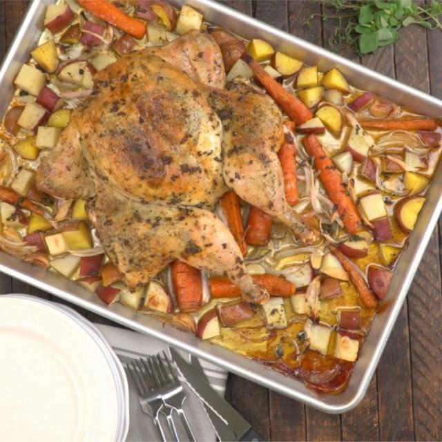 overhead-garlic-herb-spatchcock-chicken