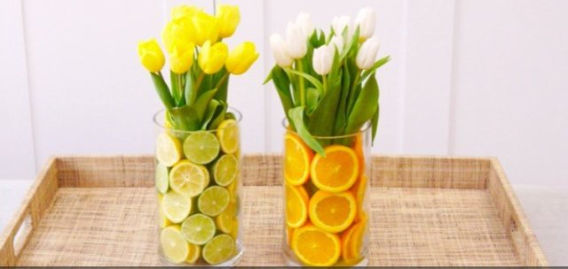 citrus vases