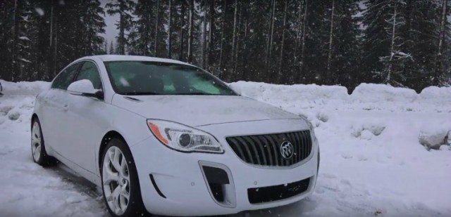 Image of car in the snow.
