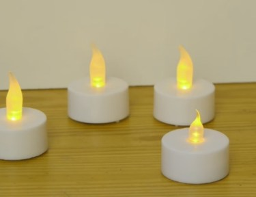 DIY tea light candles.