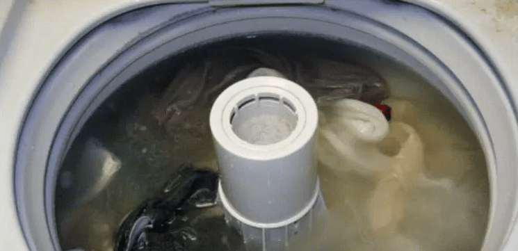 Image of dirty washing machine.