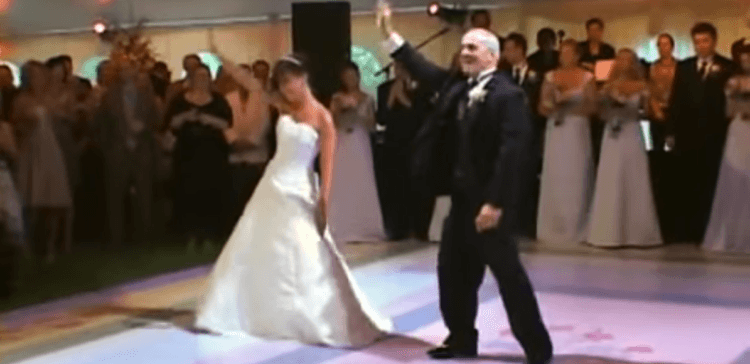 Image of bride and father dancing.